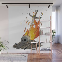 A Distinguished Fire Wall Mural