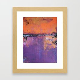 Poetic City - Urban Abstract Painting Framed Art Print
