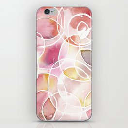 Cantaloupe and Berry Blush Watercolour iPhone Skin