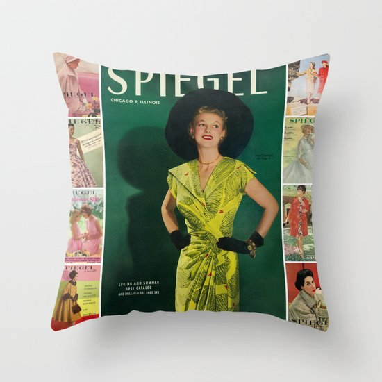 1951 Spring/Summer Catalog Cover Throw Pillow