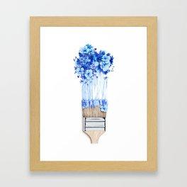 Flower Paint Brush Framed Art Print