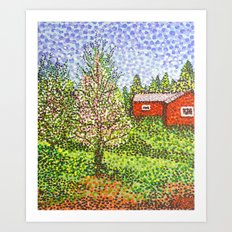 Quick Blossoms, New Grass Art Print