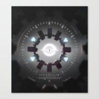 movie poster Canvas Prints featuring INTERSTELLAR movie poster by yurishwedoff
