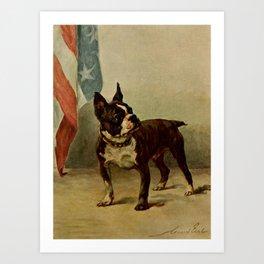 Earl,Maud (1864-1943) -The Power of the Dog 1910 (Boston Terrier) Art Print