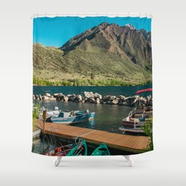 Convict Lake and Mt. Morrison Shower Curtain