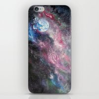 Space and the Moon iPhone Skin