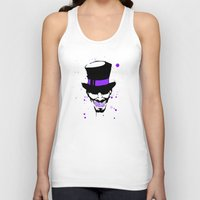 mad hatter Tank Tops featuring Mad Hatter Minimalism  by Ludwig Van Bacon
