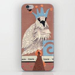 Birds Wearing Clothes - Tiara iPhone Skin