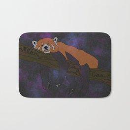 RED PANDA, IN SPACE! Bath Mat