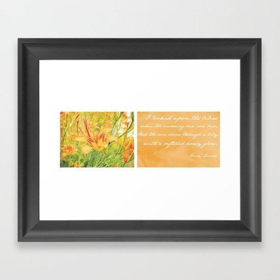 Lily Field Framed Art Print