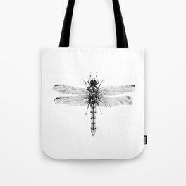 Dragonfly Scientific Illustration Tote Bag