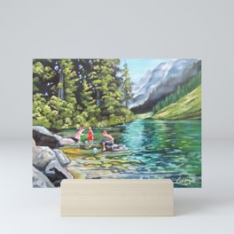 Boats on the water Mini Art Print