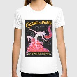Vintage Paris France Music Hall Ad T-shirt