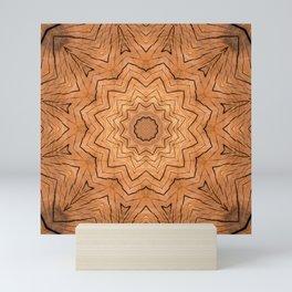 Wooden star ring kaleidoscope Mini Art Print