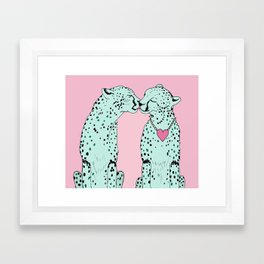 Mint Chocolate Chip Cheetahs Framed Art Print