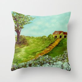 Cotton on a Cloudy Day Throw Pillow