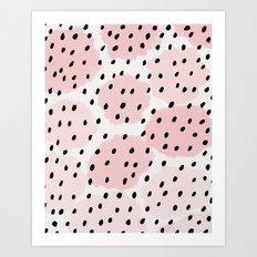 Pink Dots Pattern Art Print