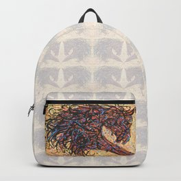 Abstract Horse Digital Ink Pollock Style Backpack