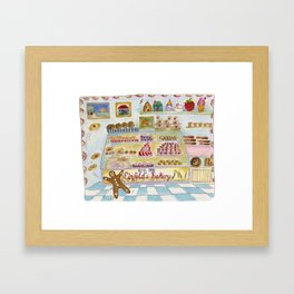 """THE BAKERY [""""Pat-a-cake, pat-a-cake, baker's man / Bake me a cake as fast as you can!""""] Framed Art Print"""