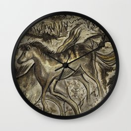 Wild Horse Cavern Wall Clock