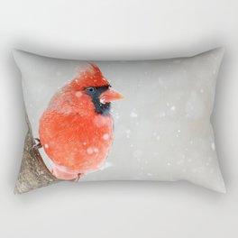 Male Northern Cardinal Rectangular Pillow
