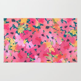 Pink and Peach Garden Rug