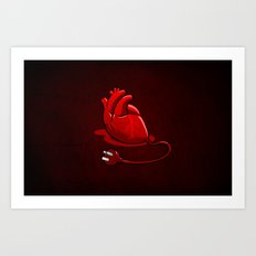 Unplug my Heart Art Print