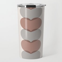 Hearts - Cocoa & Gray Travel Mug