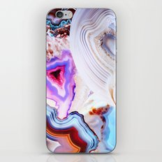 Agate, a vivid Metamorphic rock on Fire iPhone Skin