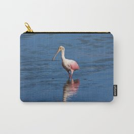 Roseate Spoonbill at Ding V Carry-All Pouch