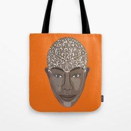 brown visage Tote Bag
