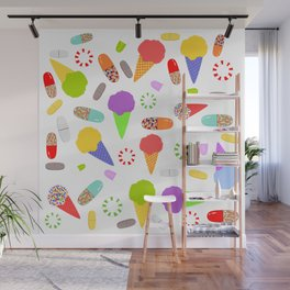 Ice Cream, Candy, and Pills Wall Mural