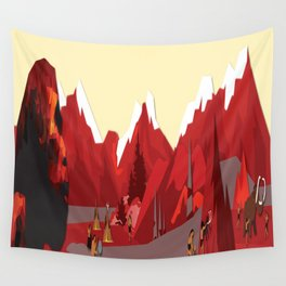 A Stone Age Landscape Wall Tapestry