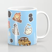 ghibli Mugs featuring studio ghibli  by skymerol