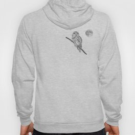 Owl, See the Moon (bw) Hoody