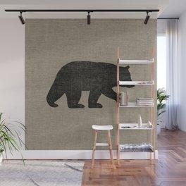 Black Bear Silhouette Wall Mural