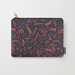 Midnight Meadow Botanical Pattern Carry-All Pouch