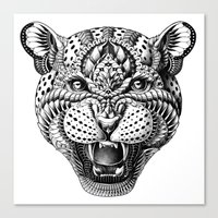 leopard Canvas Prints featuring Leopard by BIOWORKZ