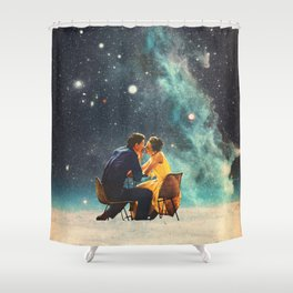 I'll Take you to the Stars for a second Date Shower Curtain