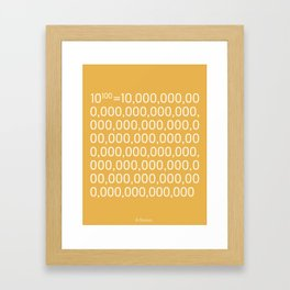 Googol Framed Art Print