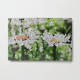 Garden Mosaic Design Metal Print