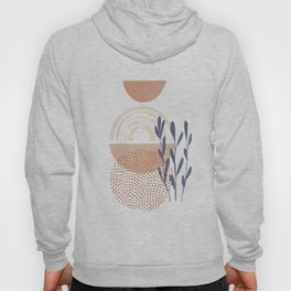 Classic Blue and baked Earth Theme Hoody