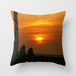 Romancing the Sunset Throw Pillow