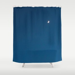 Ombre Sky, Crescent Moon Shower Curtain
