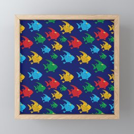 Cartoon Fish Framed Mini Art Print