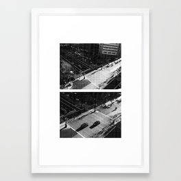 YOU LIVE YOU LEARN Framed Art Print