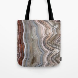Striped Agate Crystal Tote Bag