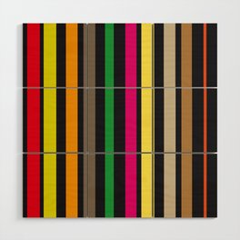 bold stripes and color Wood Wall Art