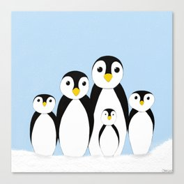 The Penguin Family Canvas Print