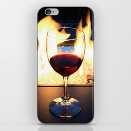 Fireside Wine II iPhone Skin